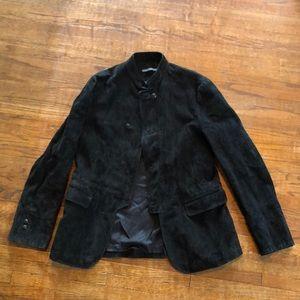 John Varvatos Collection Black Suede jacket